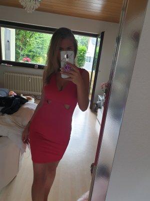 Lipsy Stretch jurk lichtrood
