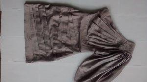 Lipsy Kleid Satin Oneshoulder Partykleid UK 8 EUR 34 silber