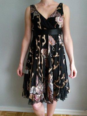 Lipsy Kleid schwarz/gemustert, Gr. 34