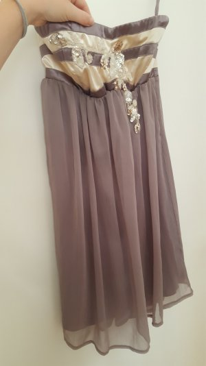 Lipsy Kleid taupe 38 neuwertig