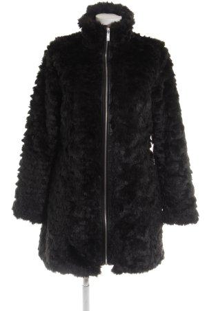 Lipsy Fake Fur Coat black casual look