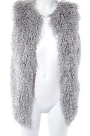 Lipsy Smanicato in ecopelliccia grigio-grigio chiaro stile stravagante