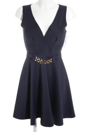 Lipsy Kurzarmkleid schwarz-blau Elegant