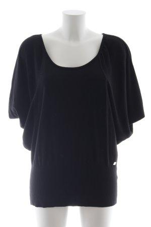 Lipsy Sweater met korte mouwen zwart simpele stijl