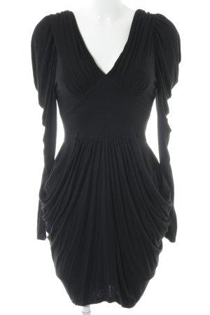 Lipsy Langarmkleid schwarz 80ies-Stil