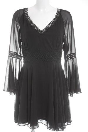 Lipsy Langarmkleid schwarz Elegant