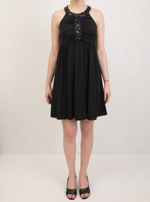 Lipsy London Cocktail Mini-Kleid mit Strass-Ziersteinen, schwarz XS