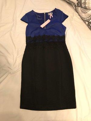 Lipsy Vestido elástico negro-azul