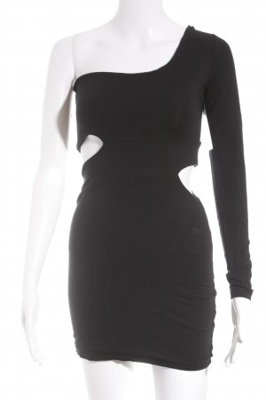 LIPSY LONDON One-Shoulder-Kleid schwarz Casual-Look