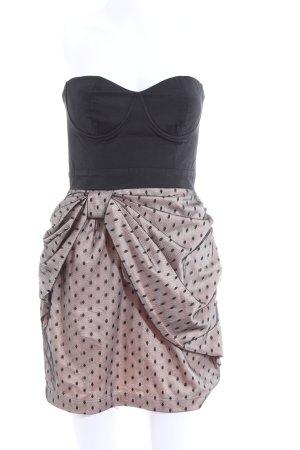Lipsy Minikleid schwarz-pink Punktemuster Party-Look