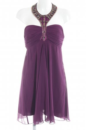 Lipsy Vestido de cuello Halter púrpura elegante