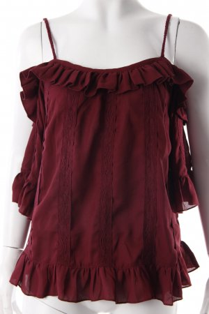 Lipsy Off-Shoulder Bluse bordeauxrot