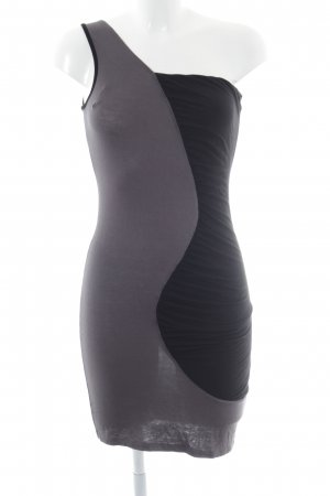 Lipsy One Shoulder Dress black-grey extravagant style
