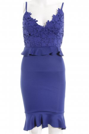 Lipsy Peplum Dress blue floral pattern elegant