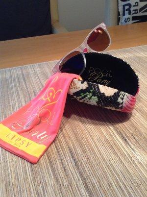 Lipsy Sonnenbrille satiniert Pink mit weiß Neu!!!