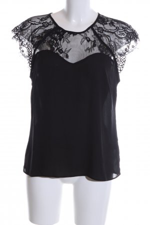 Lipsy Spitzenbluse schwarz Casual-Look