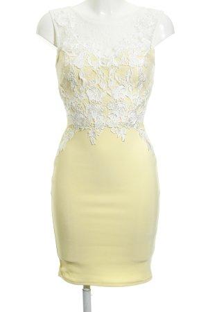 Lipsy Spitzenkleid blassgelb-wollweiß Romantik-Look