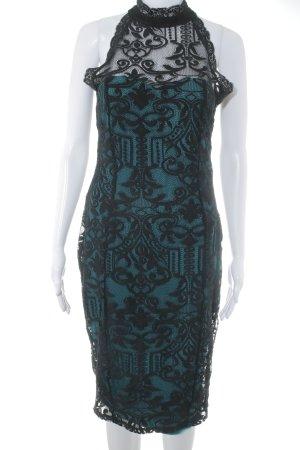 Lipsy Spitzenkleid schwarz-kadettblau Elegant