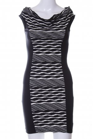 Lipsy Stretchkleid schwarz-weiß abstraktes Muster Casual-Look
