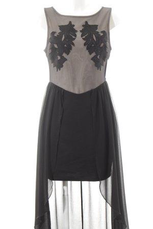 Lipsy Trägerkleid schwarz-creme Ornamentenmuster Party-Look