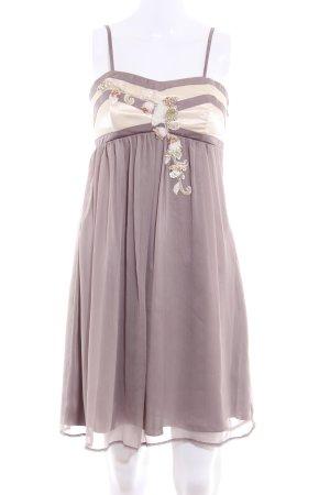 Lipsy Trägerkleid taupe-creme florales Muster Elegant