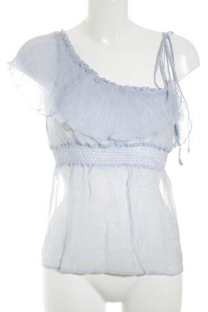 Lipsy Transparenz-Bluse himmelblau Romantik-Look