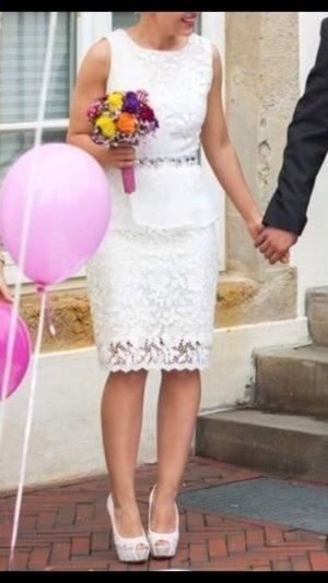 Lipsy VIP schößchenkleid mit spitze 34xs standesamtkleid hochzeitskleid