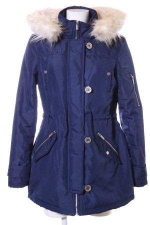 Lipsy Winterjacke blau-wollweiß Casual-Look