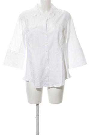 Lisa Campione Hemd-Bluse weiß schlichter Stil