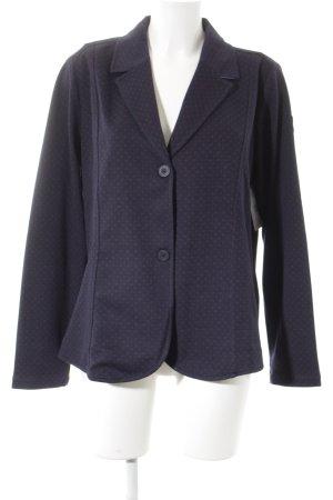 Lisa Campione Jerseyblazer dunkelblau-braunrot Punktemuster klassischer Stil
