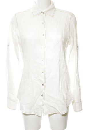 Lisa Campione Blouse en lin blanc style d'affaires