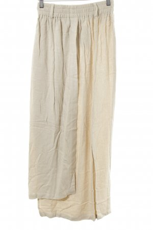 Lisa Campione Linen Skirt cream casual look