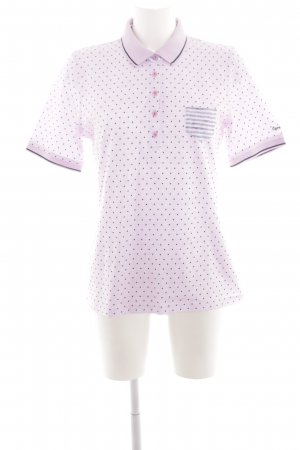 Lisa Campione Polo-Shirt pink-schwarz Punktemuster Casual-Look