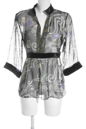 Lisa Campione Shirttunika abstraktes Muster Elegant