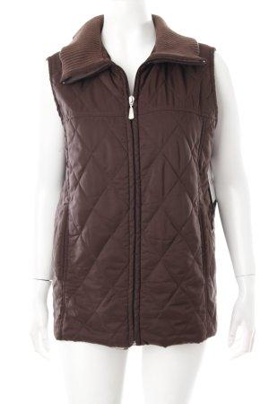 Lisa Campione Gewatteerd vest bruin quilten patroon atletische stijl