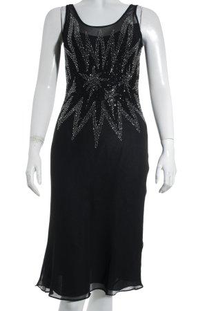 Lisa Malo Trägerkleid schwarz mit Steinchen