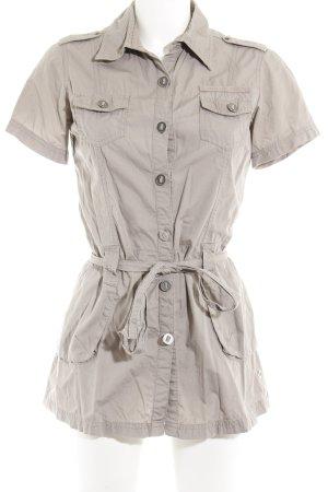 Lisa Tossa Blusenkleid graubraun Casual-Look