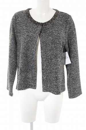 Lisa Tossa Cardigan schwarz-silberfarben meliert Business-Look