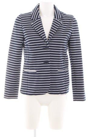 Lisa Tossa Knitted Blazer blue-white striped pattern business style