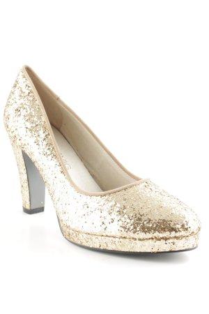 Lise lindvig High Heels gold-colored glittery