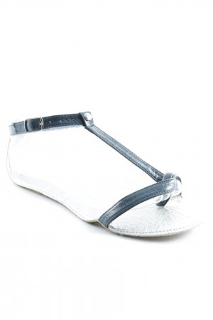 Lise lindvig Strapped Sandals silver-colored-slate-gray wet-look