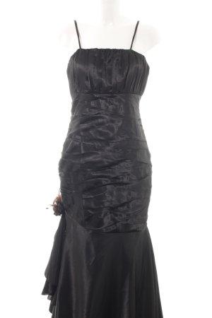 Lissa Abendkleid schwarz Glanz-Optik