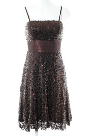 Lissa Sequin Dress bronze-colored elegant