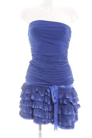 Lissa schulterfreies Kleid stahlblau-blau Elegant