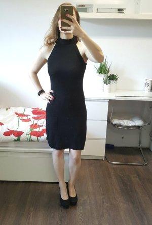 LIST Kleid XS/S Rollkragen ärmellos schwarz