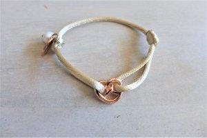 Litalu Armband Seide Breze Brezel Perle Dirndl silber gold