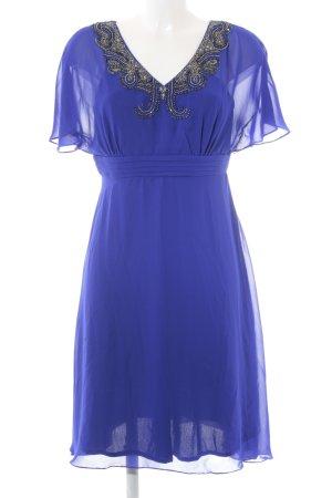 Little Mistress A-Linien Kleid blau-silberfarben Elegant
