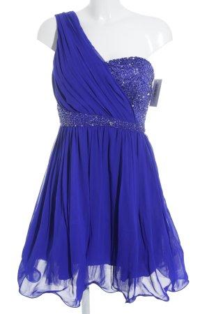 Little Mistress A-Linien Kleid blau-silberfarben Paillettenverzierung