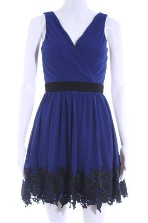 Little Mistress A-Linien Kleid dunkelblau-schwarz florales Muster