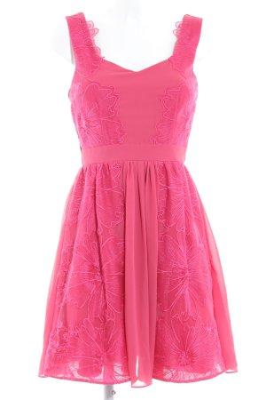 Little Mistress A-lijn jurk magenta bloemen patroon elegant